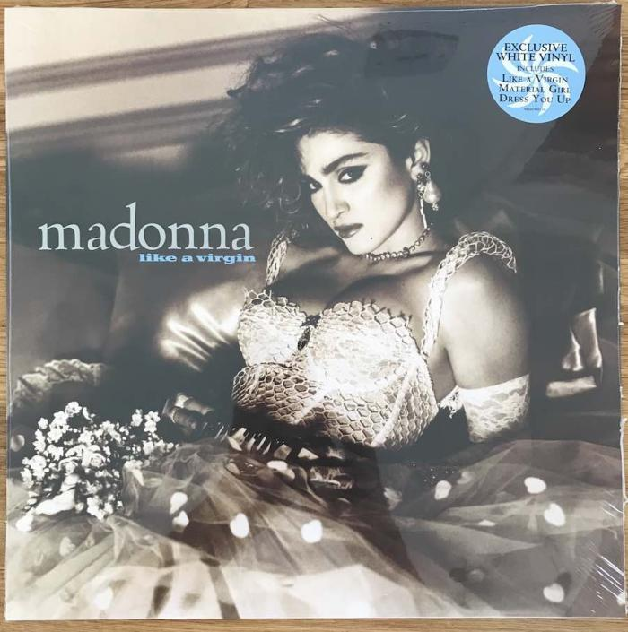 Madonna 2018 EU Reissue Like A Virgin White Vinyl LP front cover