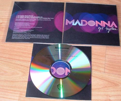 Picture of: GET TOGETHER UK 3-MIX CD-R PROMO WITH CUSTOM P/S GATEFOLD INSERT. RARE. at buySellMadonna.co.uk