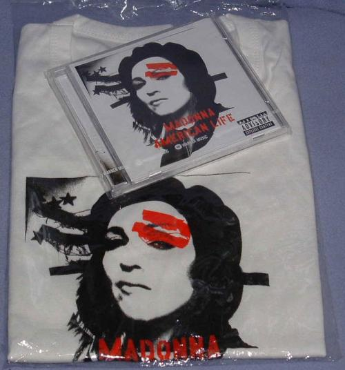 Picture of: AMERICAN LIFE THAILAND CD ALBUM WITH WARNERS THAILAND PROMO T-SHIRT, MEGA RARE! at buySellMadonna.co.uk