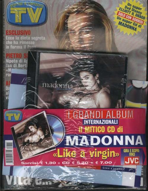 Picture of: TV SORRISI ITALIAN MAGAZINE WITH OFFICIAL 'SPECIAL EDITION' LIKE A VIRGIN CD ALBUM MINT SEALED RARE! at buySellMadonna.co.uk